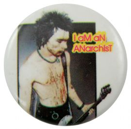 Sex Pistols - 'Sid Anarchist' Button Badge